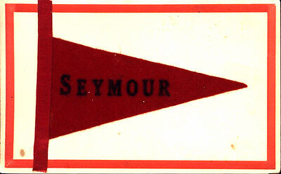 Filz-wimpel (Seymour Wisconsin Filz Wimpel Postkarte 1909)