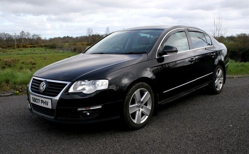 black 2007 vw passat 2 0 tdi 140 sport clean car in. Black Bedroom Furniture Sets. Home Design Ideas
