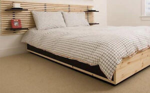 Ikea Bed frame with storage & Double size mattress w/ pillowtop