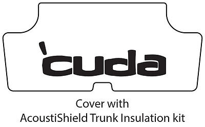 Plymouth Rubber - 1970 1974 Plymouth 'Cuda Trunk Rubber Floor Mat Cover with ME-013 'Cuda