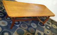 GTA DELIVERY Brilliant Danish Solid Teak Coffee Table SEE VIDEO