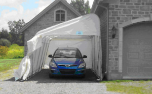 Abris auto Monopentes - 11'x20' – Single slope car shelters