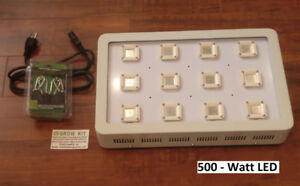 Hydroponic HID HPS LED CREE COB Grow Light Tent — 1000watt—800w—