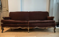 beautiful antique couch - fixer upper