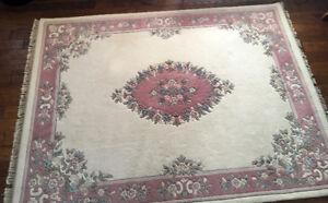 $1000+@ RETAIL !! Rich Oriental Wool Area Rug 7 x 9 SEE VIDEO