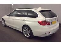 2015 WHITE BMW 330D TOURING 3.0 X DRIVE LUXURY DIESEL AUTO CAR FINANCE FR 67 PW