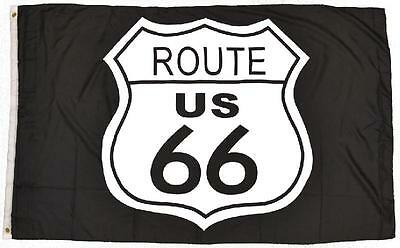 Flagge Fahne Sturmflagge Route 66 Logo 90 x 150 cm mit Messingösen