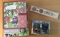 New BRIDGE CARDS& SCOREPADS GIFT SET Or WINE TRIVIA CARDS & 2UP