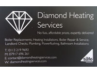 Diamond Heating Services - boiler installation, bathroom installation, boiler servicing, plumber