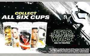 Star Wars The Force Awakens Subway Collector Cups
