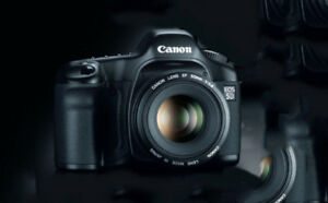 Canon EOS 5D Digital SLR Camera with two lenses, 55mm & 75-300mm