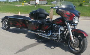 2013 FLHX Street Glide with matching trailer-HARLEY FINANCING