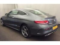 2016 GREY MERCEDES C220 2.1 AMG LINE PREMIUM COUPE DIESEL CAR FINANCE FROM 96 PW