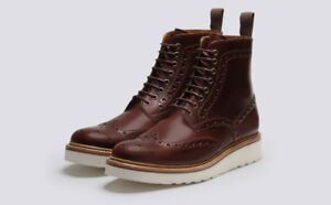 Grenson Fred Brogue Boots - Size 11.5