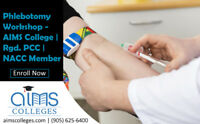 Phlebotomy Workshop | Rgd. PCC | NACC Member| Enroll Now| AIMS