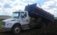 Gravel truck for hire