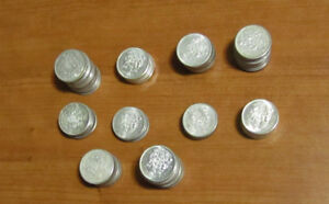 Canadian Silver Coins - 50cent Pieces - 80%ers