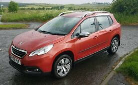 PEUGEOT 2008 DIESEL 1.6HDI BLUE ACTIVE 2015 65 PLATE WITH WARRANTY 35K