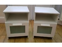 2 x IKEA Brimnes Bedside Cabinets