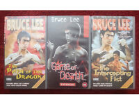 BRUCE LEE ~ PATH OF THE DRAGON, GAME OF DEATH, INTERCEPTING FIST.. VHS CLASSICS