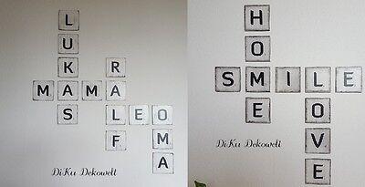 Scrabble Buchstaben..3 Größen..12 Farben..4 Schriften..Wand..Shabby Handgemacht ()