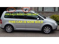 GENUINE ROOF BARS VW VOLKSWAGEN TOURAN ALUMINIUM RACK WITH SECURITY KEY AND INSTRUCTION