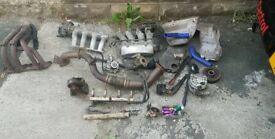 TOYOTA MR2 CELICA REV2 3SGE ALTERNATOR MANIFOLD EXHAUST FLEXI ENGINE GEARBOX MANIFOLD SURPLUS PARTS