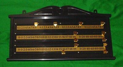 SNOOKER OR BILLIARDS TABLE ABS PLASTIC SCOREBOARD BRASS 2-4 PLAYER SCORE BOARD