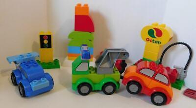"Lego DUPLO SET 10552 CREATIVE CARS LOT TOW TRUCK RACE CAR OCTAN PUMP ""SLUG A BUG"