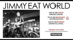 Jimmy Eat World Brisbane Show Ticket at Eaton's Hill Hotel Upper Caboolture Caboolture Area Preview