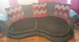 Large 2-3 seater sofa grey material