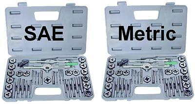 NEW 80 piece TAP AND DIE SET both SAE & METRIC + CASES on Rummage