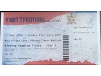 >>Y NOT FESTIVAL TICKET<<
