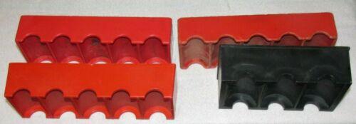 3 Vintage Red Casino Slot Machine Silver Dollar Rack & 1 Black Rack