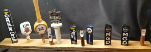 Lot of 11 Miller Beer  Tap Handle Kegerator Bar Tapper Gear MGD LITE  RESERVE