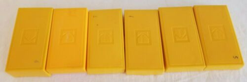 Vintage Kodak Yellow Slide Storage boxes Lot Of 6