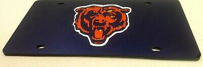 CHICAGO BEARS Blue Head LASER LICENSE PLATE  MIRROR New Car Must ()
