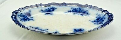 Touraine Stanley Pottery Co Flow Blue Large Serving Platter #1