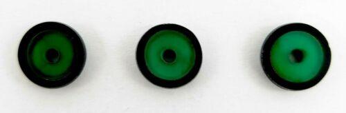 NOS Antique Deco Victorian Black Onyx Round w Inlaid Green Onyx Round Stone M238