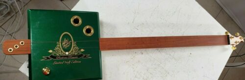 Vintage Gitty Cigar Box Guitar and Amplifier Limited Edition SIGNED RARE Collect