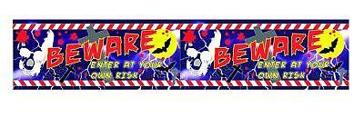 Spooky Halloween Banner de Decoración de Fiesta Broma Miedo Horror Beware