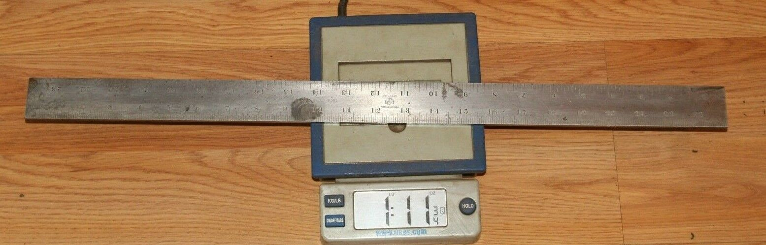 """Vintage L.S.S CO ATHOL MASS USA - STARRETT machinist straight edge No. 383 - 24"""""""