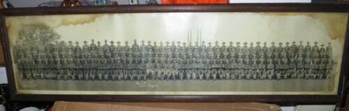 """WWI Yard Long Photo US Army """"Co. A - 353rd Infantry"""" Camp Funston KS - Ft. Riley"""