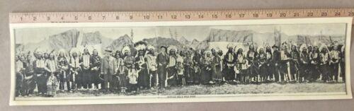 W.F.Cody - Panoramic photo of Wild West Circus circa 1908?