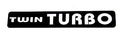 Twin Turbo Emblem Black/chrome Super Sized