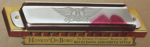 AEROSMITH Rare 2004 LARGE HARMONICA SHAPED PROMO POSTER FLAT for Bobo CD 24x7