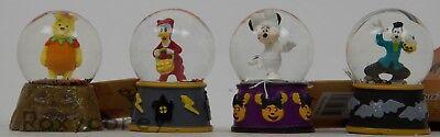 Halloween Disney Minnie Mouse Donald Goofy Winnie the Pooh Mini Water Snow - Halloween Water Globes