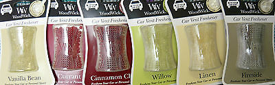 New WoodWick Car Vent or Personal Space Scent Deodorizers You Pick clip fragrant