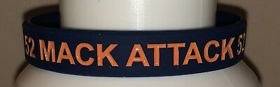 Chicago Bears Rubber Bracelet - Chicago Bears MACK ATTACK rubber wristband bracelet Khalil Mack #52 blue/orange