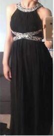 Black Grecian prom dress